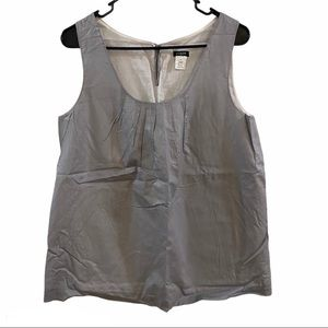 J.CREW Silver tank shell pelleted front